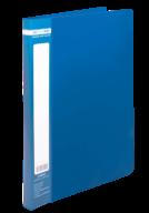 $Папка пластиковая с скоросшивателем, JOBMAX, A4, синяя