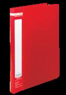 $Папка пластиковая с скоросшивателем, JOBMAX, A4, красная
