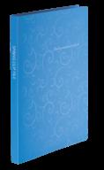 $Папка пластиковая с скоросшивателем, BAROCCO, A4, голубая