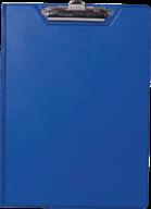 $Клипборд-папка, А4, PVC, темно-синий