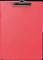$Клипборд-папка, А4, PVC, красный