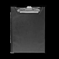 Клипборд-папка, А5, PVC, черный