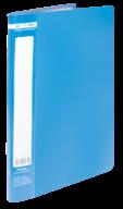 ^$Папка пластиковая с 10 файлами, JOBMAX, А4, синяя