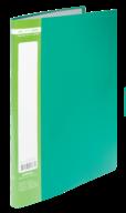 ^$Папка пластиковая с 10 файлами, JOBMAX, А4, зеленая