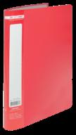 ^$Папка пластиковая с 10 файлами, JOBMAX, А4, красная