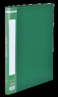 @$Папка пластиковая с 10 файлами, А4, зеленая