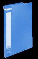 ^$Папка пластиковая с 20 файлами, JOBMAX, А4, синяя