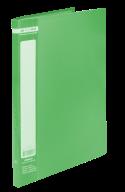 ^$Папка пластиковая с 20 файлами, JOBMAX, А4, зеленая