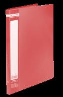 ^$Папка пластиковая с 20 файлами, JOBMAX, А4, красная