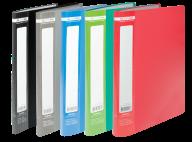^$Папка пластиковая с 20 файлами JOBMAX, А4, ассорти