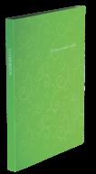 $Папка пластиковая с 20 файлами, BAROCCO, А4, салатовая
