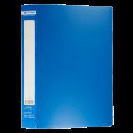 ^$Папка пластиковая с 30 файлами, JOBMAX, А4, синяя