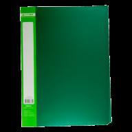 ^$Папка пластиковая с 30 файлами, JOBMAX, А4, зеленая