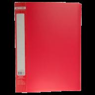 ^$Папка пластиковая с 30 файлами, JOBMAX, А4, красная