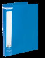 ^$Папка пластиковая с 40 файлами, JOBMAX, А4, синяя