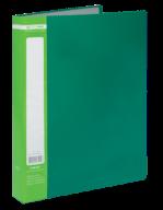 ^$Папка пластиковая с 40 файлами, JOBMAX, А4, зеленая