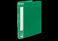 @$Папка пластиковая с 40 файлами, А4, зеленая