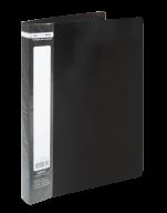 $Папка пластиковая с 60 файлами, JOBMAX, А4, черная