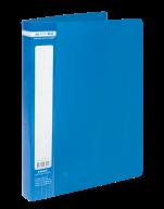 $Папка пластиковая с 60 файлами, JOBMAX, А4, синяя