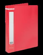 $Папка пластиковая с 60 файлами, JOBMAX, А4, красная
