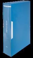 $Папка пластиковая с 80 файлами, А4, в пласт.чехле, синяя