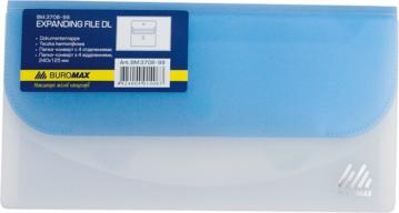 $Папка-конверт TRAVEL, на липучке, DL, 4 отделения, матовый полупроз.пластик, асорти