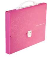 Портфель, BAROCCO, A4, пластик 700 мкм, розовый