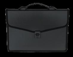 Портфель на 3 отделения, пластик 700 мкм, черный