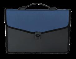Портфель на 3 отделения, пластик 700 мкм, синий