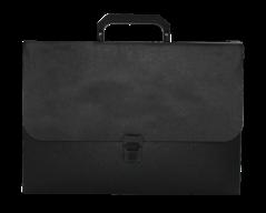 Портфель, JOBMAX, A4, пластик 700 мкм, черный