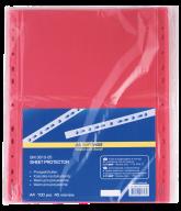 @$Файл для документов PROFESSIONAL, А4, 40 мкм, красный, по 100 шт. в упаковке