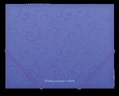$Папка на резинках, BAROCCO, А5, матовый непрозр. пластик, фиолетовая