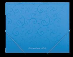 $Папка на резинках, BAROCCO, А5, матовый непрозр. пластик, голубая