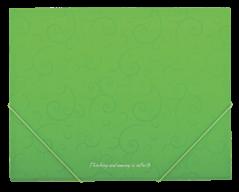 $Папка на резинках, BAROCCO, А5, матовый непрозр. пластик, салатовая