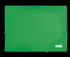 $Папка на резинках, JOBMAX, А4, непрозр.пластик, зеленая