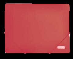 $Папка на резинках, JOBMAX, А4, непрозр.пластик, красная