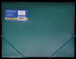 ^$Папка на резинках, А4, глянцевый непрозр. пластик, зеленая