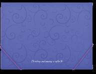 $Папка на резинках, BAROCCO, А4, матовый непрозр.пластик, фиолетовая