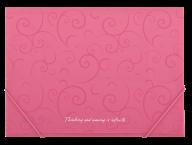 $Папка на резинках, BAROCCO, А4, матовый непрозр.пластик, розовая
