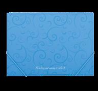 $Папка на резинках, BAROCCO, А4, матовый непрозр.пластик, голубая