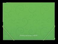 $Папка на резинках, BAROCCO, А4, матовый непрозр.пластик, салатовая