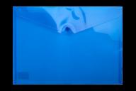 ^$Папка-конверт, на кнопке, А4, глянцевый полупроз.пластик, синяя