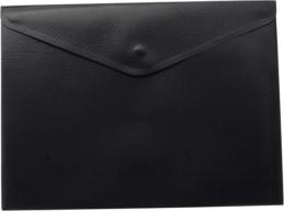 ^$Папка-конверт, на кнопке, А5, матовый полупрозр.пластик, черная