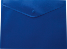 ^$Папка-конверт, на кнопке, А5, матовый полупрозр.пластик, синяя