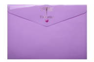 Папка-конверт на кнопке FAVOURITE, PASTEL, A4, сиреневая