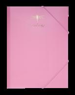 Папка на резинках FAVOURITE, PASTEL, А4, розовая