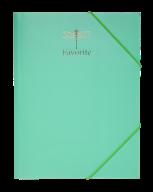 Папка на резинках FAVOURITE, PASTEL, А4, мятная