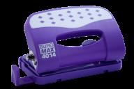 Дырокол металлический ШАХМАТКА, до 12 л., 120х66х45 мм, фиолетовый