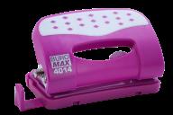 #@$Дырокол металлический ШАХМАТКА, до 12 л., 125х62х45 мм, розовый
