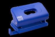 Дырокол пластиковый, до 10 л., 120х58х59 мм, синий